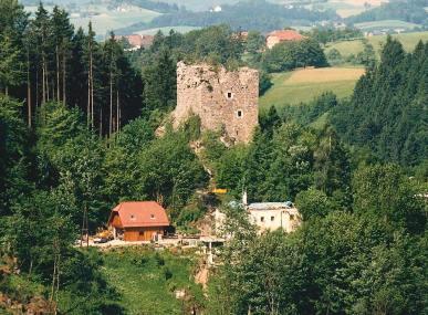 Burgruine Lichtenhag Umbauarbeiten um 1985